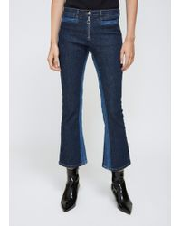 Courreges - Washed Out Blue Denim Trousers - Lyst