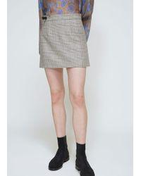 Viden - Wrena Mini Skirt - Lyst