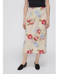 Simone Rocha Ruched Flower Skirt - Multicolour