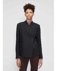 Ms Min V-neck Wrap Jacket - Black