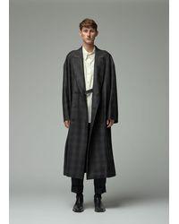 Ann Demeulemeester Check Overcoat - Black