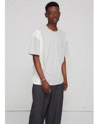 Comme des Garçons - Double Wool Panel T-shirt - Lyst