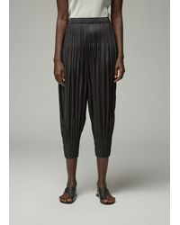 Pleats Please Issey Miyake Fluffy Basics Bottom Trousers - Black