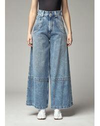 Maison Margiela Wide Leg Pants - Blue