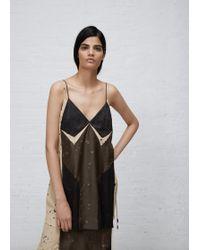Josh Goot - Military / Sand / Black Mini Dress - Lyst
