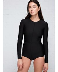 Ann Demeulemeester Long Sleeve Bodysuit - Black
