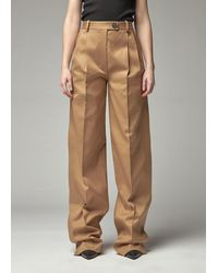 Peter Do Side Pleated Trouser - Brown