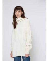 Y's Yohji Yamamoto - Intarsia Design Pullover - Lyst