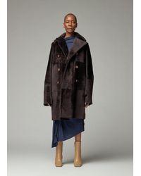 Sies Marjan Jackie Sheared Lamb Reversible Coat - Black