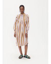 Marni Long Sleeve Shirt Dress - Multicolour