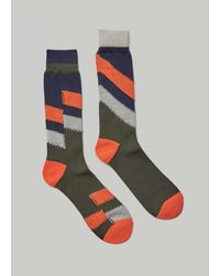 Sacai Stripe Sock - Blue