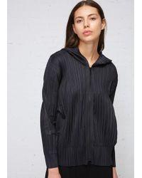 Pleats Please Issey Miyake Hooded Jacket - Black