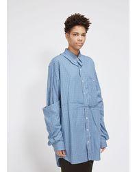 Vetements Deconstructed Double Shirt - Blue