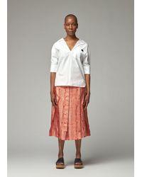 Marni Poplin Polo Shirt Blouse - White