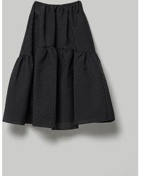 Cecile Bahnsen Rosemary Dress Withvoluminous Panel Skirt - Black