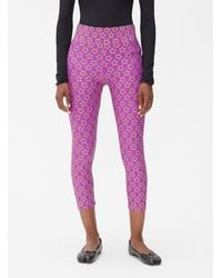 Molly Goddard Alix Embroidered Leggings - Purple