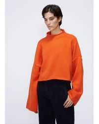JW Anderson - Oversize Wool & Cashmere Knit Sweater - Lyst