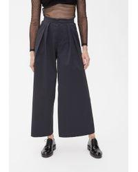 Xiao Li Pleated Wide Leg Trouser - Black