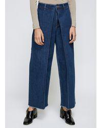 AALTO Cropped Pleats Jean - Blue