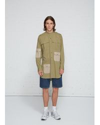 JW Anderson Collarless Shirt - Green