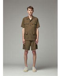 Marni Short Sleeve Military Shirt - Green