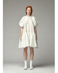 Cecile Bahnsen Puff Sleeve Dress - White