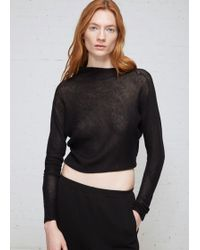 Oyuna - Asymmetric Diagonal Rib Long Sleeve Pullover - Lyst