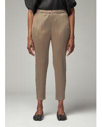 Pleats Please Issey Miyake Slim Bottoms Pant - Gray