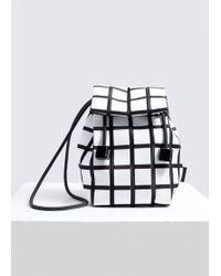 Issey Miyake - Linear Knit Crossbody Bag - Lyst