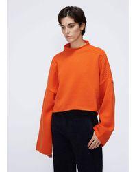 JW Anderson Shoulder Cable Detail Sweater - Orange
