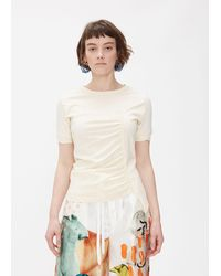 Marni Short Sleeve Simple Ruched T-shirt - White