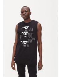 Raf Simons Photographic Vest Top - Black