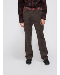 Marni Combo Houndstooth Check Trouser - Brown