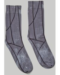 A_COLD_WALL* Graphic-print Cotton Socks - Gray