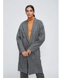 Studio Nicholson - Grey Herringbone Mother Coat - Lyst