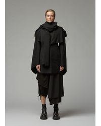 Yohji Yamamoto Cape Sleeve Slim Jacket - Black