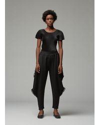 Pleats Please Issey Miyake Short Sleeve Mist Basics Top - Black