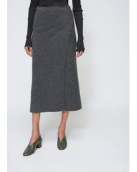 Lauren Manoogian - Charcoal Blanket Skirt - Lyst