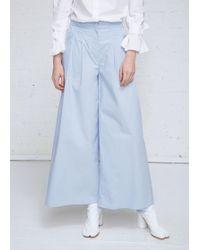 Xiao Li - Cotton Wide Leg Trousers - Lyst