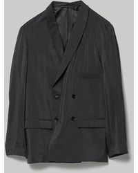 Lemaire Double Breasted Jacket - Black