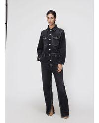 15e9a134 Ganni - Contrast Stitch Jumpsuit - Lyst