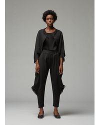 Issey Miyake Line Mesh Cropped Jacket - Black