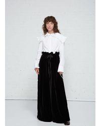 Cecile Bahnsen Sara Wide-leg Velvet Trousers - Black