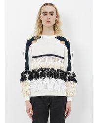 Toga Pulla - White Fringe Knit Pullover 1 - Lyst