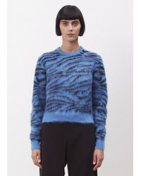 Toga Pulla - Blue Mohair Jaquard Knit Pullover - Lyst