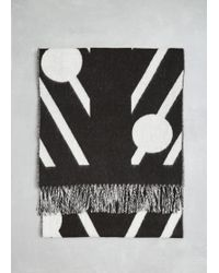 Henrik Vibskov - Embroidered Fringed Scarf - Lyst