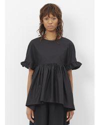 Xiao Li - Black Short Sleeve Ruffle Shirt - Lyst