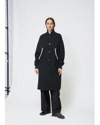 Y's Yohji Yamamoto - Black Long Blouson Coat - Lyst
