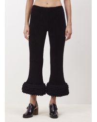Xiao Li - Black Lisso Knitted Rib Trousers - Lyst