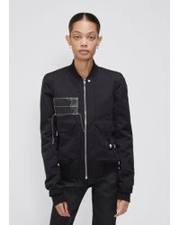 DRKSHDW by Rick Owens - Patched Cop Flight Jacket - Lyst